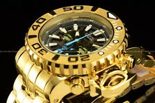 Invicta 70mm Full Sea Hunter High Polished Silver 18k Gold Plated Swiss SS Watch