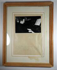 Nice Framed Professor Arie Vardi Israeli Pianist Conductor Dedicated Photo