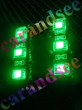 2 MINI BANDE A 3 LED VERT 5 CM SMD 5050 12 VOLTS ECLAIRAGE TUNING WATERPROOF
