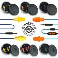 PLUGFONES GUARDIAN or GUARDIAN PLUS SERIES - EARPLUGS That Are Headphones Ear