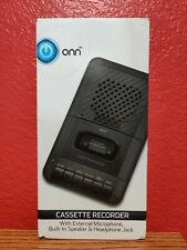 ONN Cassette Recorder With External Microphone & Blank Cassette Tape SHIPS FREE!