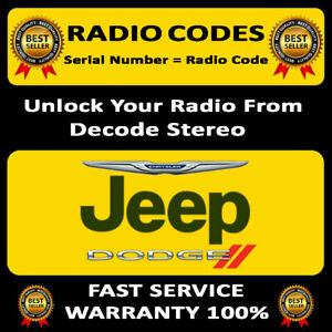 RADIO CODES CHRYSLER LHS STEREO CODES PIN UNLOCK DECODE, FAST SERVICE