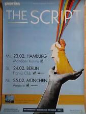 THE SCRIPT 2009 TOUR  -  orig. Concert Poster - Konzert Plakat  A1  NEU