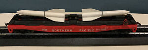 HO LIONEL 50' SOUTHERN PACIFIC #0823 TWIN MISSILE TRANSPORT FLAT CAR