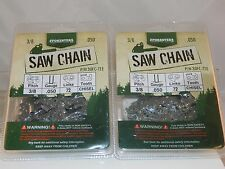 """2 Pack 20"""" Forester 3/8 .050 STIHL 034 Chainsaw Chain Full Chisel"""