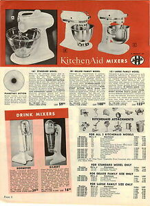 1955 PAPER AD Kitchenaid Hobart Electric Mixer Delluxe Large Family Standard