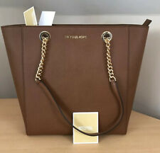 Michael Kors Jet Set Chain Leather Medium Tote Bag - Brown Leather - BNWT