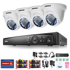 ANNKE 1080P 4CH HD TVI H.264+ DVR 2MP Outdoor IR Night Security Camera System