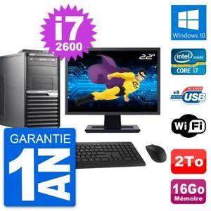 """PC Tour Acer M2610G Ecran 22"""" Intel i7-2600 RAM 16Go Disque 2To Windows 10 Wifi"""