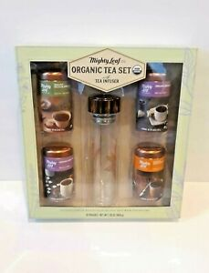 NEW Mighty Leaf Organic Tea Set with Tea Infuser 16 Pouches ~ Exp 04/28/2020