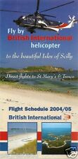 Airline Timetable - British International - 04 05 - Isles of Scilly - S61 G-BFFJ