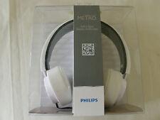 New Sealed Philips SHL5200WT/28 CitiScape Metro Headphones (White) 609585224087