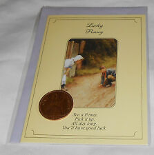 Luck Peny New Greeting Card - England Queen Elizabeth II - 1967