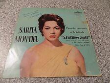 SARA SARITA MONTIEL - El Ultimo Cuple RARE  LP SIGNED AUTOGRAPHED