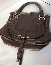 Gorgeous Chloe Chocolate Brown Medium Marcie Bag, Beautiful Soft Leather