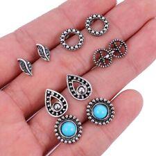 Women Boucle D'oreille Jewelry Bohemian Stud Earring Set Green Droplets Brincos