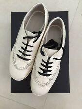 "Alexander Wang ""Riley"" Cream/Ivory Brogue Leather Shoes In Size 8"