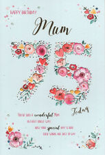 75th MUM BIRTHDAY CARD AGE 75 ~ FLORAL DESIGN QUALITY CARD NICE VERSE BY IC&G