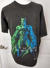 BATMAN FOREVER 1995 Mens Black Short Sleeve Shirt Large Marvel DC Comics Movie