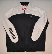 Puma Large Logo Woven Jacket Navy Blue White Mens Large L Free Shipping