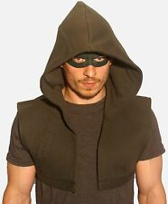 Green Arrow Hood et masque Oliver Queen cosplay costume robe fantaisie