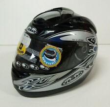 Vemar Casco Integrale Moto Scooter Nero Blu Touring Helmet Omologato F730