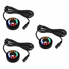 Fountain Ring Lights Color Changing for Water Pump Not provided for Adapter 3PCS