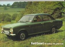 FORD ESCORT SALOON, L, XL, GT, SPORT & ESTATES SALES BROCHURE 1972 1973 (L REG)