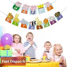 UK 3 Meter Cute Peppa Pig Party Flag Banners Supplies Bunting Kids Fun Birthday
