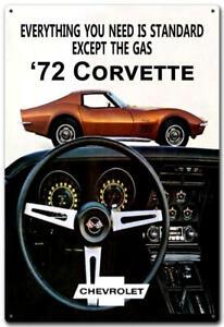 72 CORVETTE TIN SIGN - 20cm * 30cm - METAL SIGN