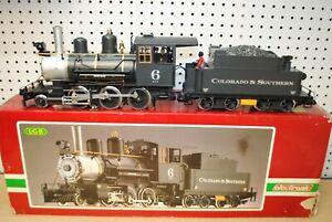 LGB 2019S (20192) 2-6-0 C&S Steam Mogul Locomotive & Tender *G-Scale*