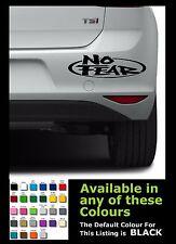 JDM NO FEAR Funny Stickers/ Decals for Car Van Bumper Window Etc...