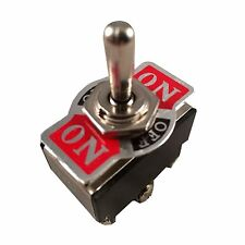 Metal Rocker Toggle Switch Heavy Duty 6 Pin DPST On-Off-On 3 Position Car Boat