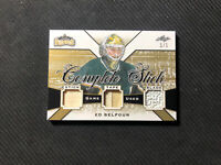 2019-20 LUMBER KINGS ED BELFOUR COMPLETE STICK TAPE BLADE PATCH GOLD #ed 1/1