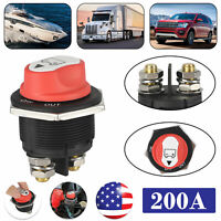 200A Battery Isolator Disconnect Rotary Switch Cut On/Off for Car Vehicles Boat