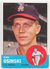 1963 Topps #114 Dan Osinski RC - Angels (VG)