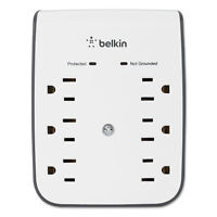 Belkin SurgePlus USB Wall Mount Charger 6 Outlets; 2 USB White BSV602TT