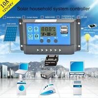 10-30A Solar Panel Battery Charge Controller 12V 24V LCD Regulator Dual J4E7