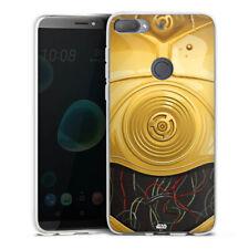 HTC Desire 12 plus Silicona Funda Case Handy-c3po closeup