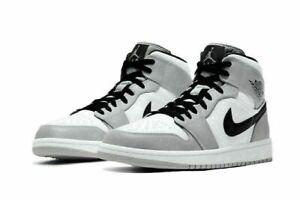 Uomo Donna Scarpe da ginnastica Air Jordan1 Mid Smoke Grey Shoes