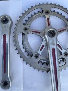 Campagnolo Super Nuovo Record Strata Vintage Crankset Crank 52-42 170 Campy