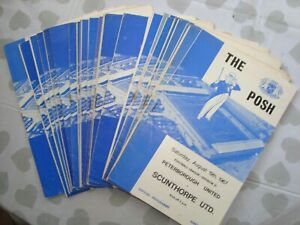 Full season of Peterborough 1967-68 home programmes - 26 programmes in all