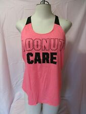 VICTORIA'S SECRET ~ PINK ~ SHIRT ~ DONUT CARE ~ TANK TOP ~ SMALL ~ NEW WITH TAGS