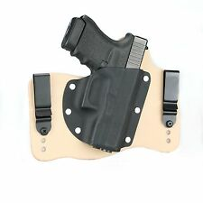 FoxX Leather & Kydex IWB Hybrid Holster Glock 30 & 30SF Right Natural Conceal