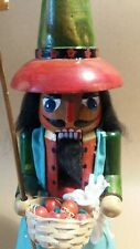 VINTAGE WOODEN NUTCRACKER  SOLDIER FIGURE CHRISTMAS