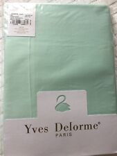 YVES DELORME TRIOMPHE GLACE SATIN FITTED SHEET 140/195CMS