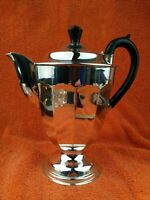 Antique Art Deco Sheffield Silver Plate Coffee Pot EPNS  C1930