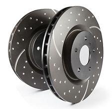EBC Turbo Grooved Front Vented Brake Discs for Renault 19 1.8 16v (91 > 92)