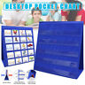 Folding Double-sided Desktop Pocket Chart Teaching Self-standing for Classroom