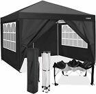 10'x10' Heavy Duty Canopy Folding Wedding Party Tent Gazebo,with 4-Side+Walls.